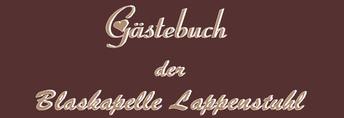 Gästebuch Blaskapelle Lappenstuhl